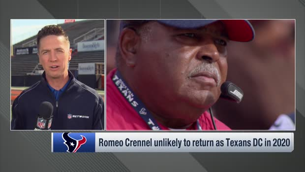 Tom Pelissero: Romeo Crennel unlikely to return as Texans DC in 2020
