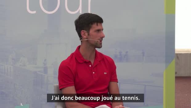 """Tennis : ATP - Djokovic - """"J'ai pu beaucoup m'entraîner durant le confinement"""""""