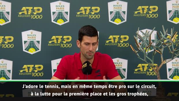 : Rolex Paris Masters - Djokovic - 'Vous allez me voir encore longtemps'