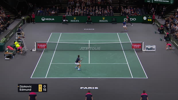 Basket : Rolex Paris Masters - Djokovic sort Edmund