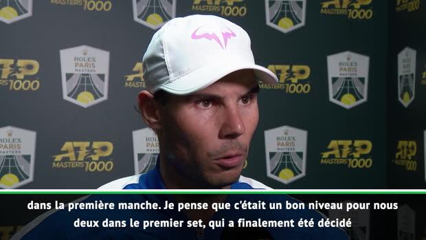 : Rolex Paris Masters - Nadal - 'Une victoire très positive'