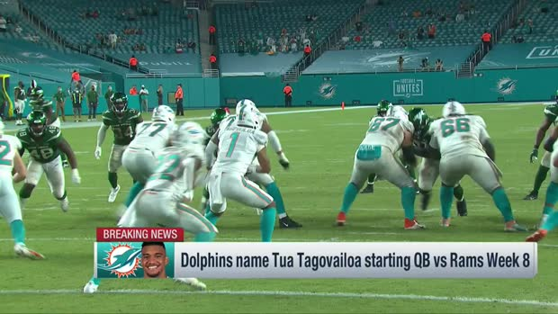 Pelissero explains timing of Dolphins' Tua Tagovailoa promotion at QB