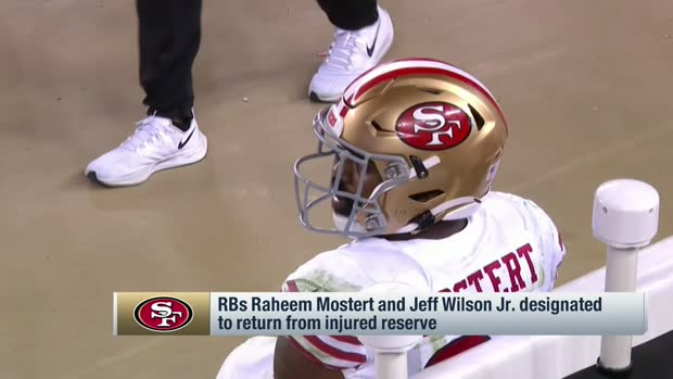 Pelissero: 49ers to designate Raheem Mostert, Jeff Wilson Jr. for return from IR