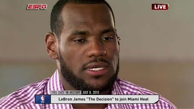 LeBron James announced his decision