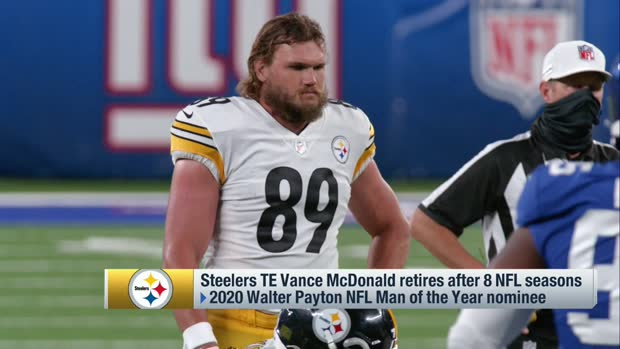 Pittsburgh Steelers tight end Vance McDonald retires after 8 NFL seasons