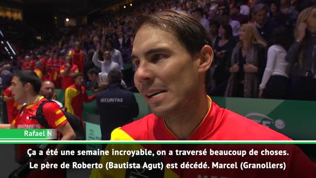 """Tennis : Coupe Davis - Nadal - """"Merci à la vie pour ce moment"""""""