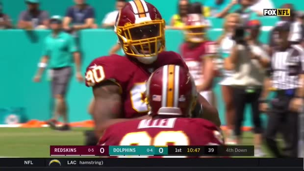 Redskins vs. Dolphins Highlights Week 6