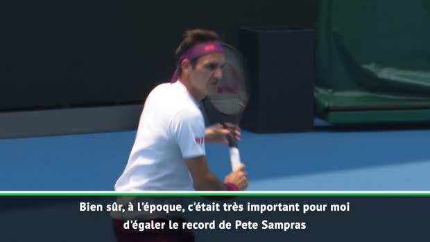 : Open d'Australie - Federer n'est pas obsédé par son record de titres de Grand Chelem