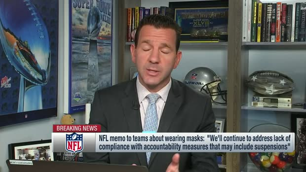 Rapoport breaks down NFL memo to teams about wearing masks