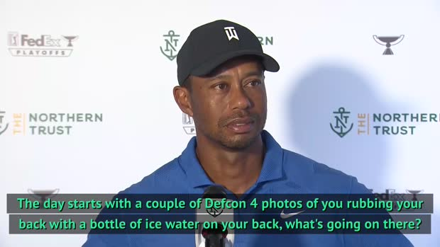 Tiger Woods plays down back concerns at Northern Trust