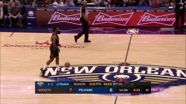 WSC: JJ Redick 3-pointers in New Orleans Pelicans vs. Houston Rockets
